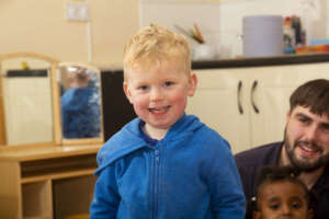 Smiling Toddler from Acorns Early Learning Centre