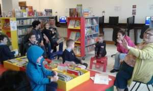Image of children enjoying a doodle den session